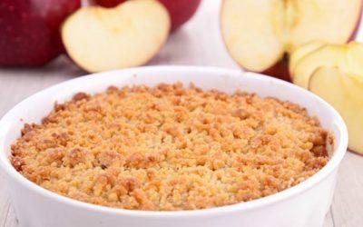 Crumble au pommes ( 6 personnes )